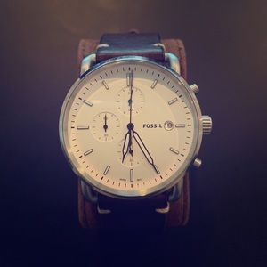 Fossil Stainless Steel Chronograph Watch. Used.